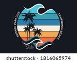 summer paradise stylish t shirt ... | Shutterstock .eps vector #1816065974