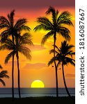 summer tropical beach...   Shutterstock .eps vector #1816087667