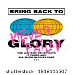 bring back to glory statement...   Shutterstock .eps vector #1816115507