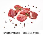 sliced mutton meat with thyme... | Shutterstock . vector #1816115981