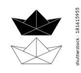 Paper Boat   Vector Icon