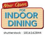 now open for indoor dining...   Shutterstock .eps vector #1816162844
