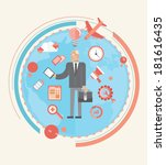 digitally generated businessman