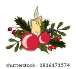 christmas vector illustration.... | Shutterstock .eps vector #1816171574