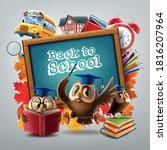 welcome to the new school year... | Shutterstock .eps vector #1816207964