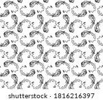 bandana print. vector seamless... | Shutterstock .eps vector #1816216397