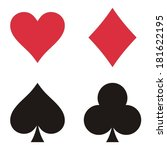 set of playing card symbols on... | Shutterstock .eps vector #181622195