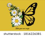 Butterfly Hand Drawn Design...