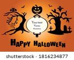 happy halloween poster. vector... | Shutterstock .eps vector #1816234877