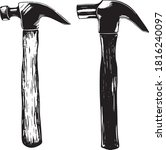 Vector Set Of 2 Claw Hammers...
