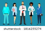 group of doctors and nurses in... | Shutterstock .eps vector #1816255274