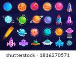 space object. alien planet  ufo ...   Shutterstock . vector #1816270571