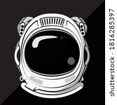 astronaut helmets are used to... | Shutterstock .eps vector #1816285397