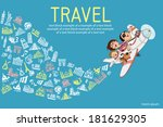 infographics. cartoon family ... | Shutterstock .eps vector #181629305