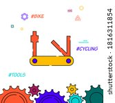bicycle multi tool filled line...