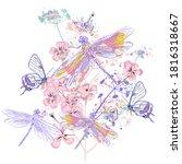 beautiful vector illustration... | Shutterstock .eps vector #1816318667