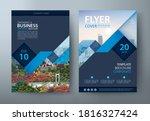 flyer design  leaflet cover... | Shutterstock .eps vector #1816327424