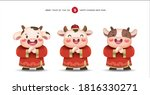 2021 chinese new year  year of... | Shutterstock .eps vector #1816330271