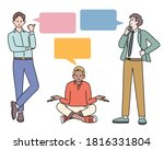various gestures for questions... | Shutterstock .eps vector #1816331804