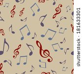 vector seamless pattern of... | Shutterstock .eps vector #181633301