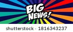 big news on colorful background | Shutterstock .eps vector #1816343237