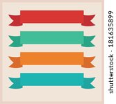 ribbon illustration | Shutterstock . vector #181635899