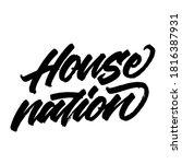 house of nation. handwritten...   Shutterstock .eps vector #1816387931