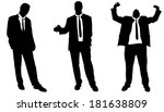 vector silhouette of... | Shutterstock .eps vector #181638809