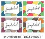 modern geometric pattern...   Shutterstock .eps vector #1816390037