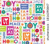colourful christmas typography... | Shutterstock .eps vector #1816390847