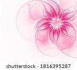 Fractal Pink Flower On A Light...
