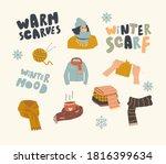 Set Icons Warm Clothing Theme....