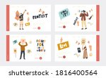 activist characters protest for ...   Shutterstock .eps vector #1816400564