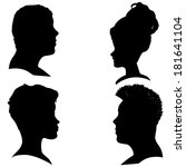 vector silhouettes of different ... | Shutterstock .eps vector #181641104