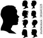 vector silhouettes of different ... | Shutterstock .eps vector #181641125