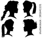 vector silhouettes of different ... | Shutterstock .eps vector #181641131