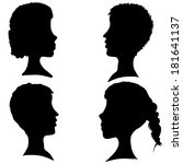vector silhouettes of different ... | Shutterstock .eps vector #181641137