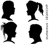 vector silhouettes of different ... | Shutterstock .eps vector #181641149