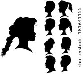 vector silhouettes of different ... | Shutterstock .eps vector #181641155