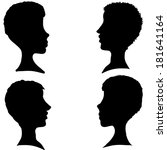 vector silhouettes of different ... | Shutterstock .eps vector #181641164