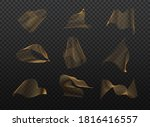set of abstract gold waves.... | Shutterstock .eps vector #1816416557