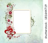 photo frame with flowers ... | Shutterstock . vector #181644719