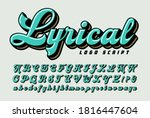 Lyrical Logo Style Script  A...