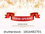 grand opening vector banner.... | Shutterstock .eps vector #1816482701