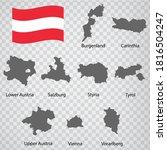 nine maps  provinces of austria ... | Shutterstock .eps vector #1816504247