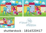 family plants a flower.find the ... | Shutterstock .eps vector #1816520417