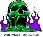 Vector Burning Skull With...