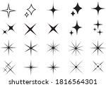 glitter light and star parts... | Shutterstock .eps vector #1816564301