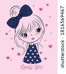 cute lovely girl  graphic tees... | Shutterstock .eps vector #1816569467