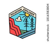 vintage mountain explorer logo  ... | Shutterstock .eps vector #1816583804